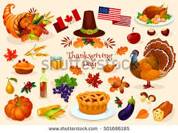 thanksgiving day elements free vector stock