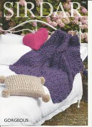 Knitted Cushion Cover Patterns Sirdar Cushion Covers And Throw Knitting Pattern In Gorgeous Ultra