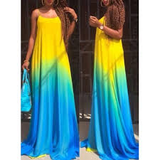 ombre maxi dress stylish spaghetti sleeveless ombre maxi dress for women