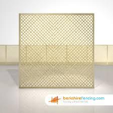 rectangle diamond privacy trellis fence panels 6ft x 6ft natural