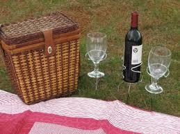 Wine Picnic Baskets Wine Bottle Holder U2013 Wine Glass Holders U2013 Backyard Outdoor Picnic