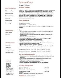 Loan Processor Resume Samples by Free Example Of Loan Processor Resume
