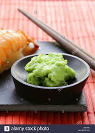wasabi mustard wasabi mustard sauce for japanese food stock photo royalty free