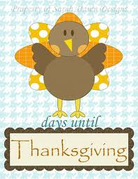 designs thanksgiving countdown printable