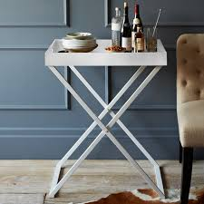 serving tray side table image result for west elm white tray table home pinterest