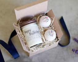 birthday gifts for birthday gift for vanilla cake candle and bath bath bomb set