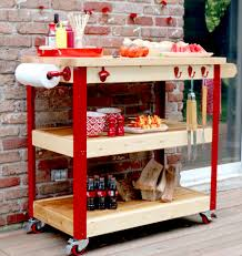 Diy Kitchen Island On Wheels by How To Build A Rolling Grill Cart