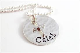 religious gifts personalized confirmation necklace sterling silver cross charm