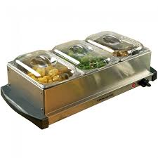 fw153s deluxe 3 tray buffet server and food warmer with stand