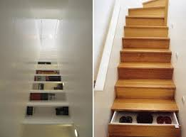 cool stairs storage ideas furnish burnish