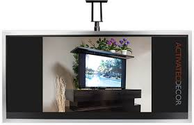 Pop Up Tv Cabinets Activated Decor Motorized Tv Lift Mounts U0026 Automated Tv Furniture
