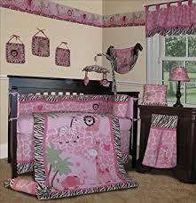 Crib Bedding Sets Girls by Amazon Com Sisi Baby Bedding Pink Safari 13 Pcs Crib