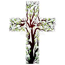 floral christian cross tree shape stock vector illustration of