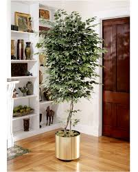 6 trim artificial silk ficus tree for narrow spaces at
