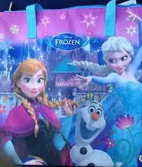 disney frozen fever anna elsa u0026 olaf canvas book bag