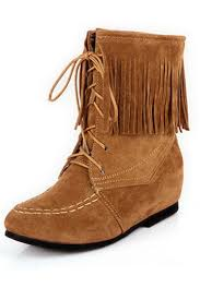 light brown combat boots light brown nubuck lace up tassel boots 015138 womens fashion
