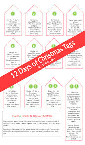 sweet u0026 simple 12 days of christmas printables so festive