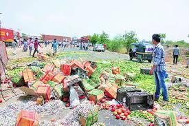 vashi market maharashtra farmers on strike disrupt supplies to cities the
