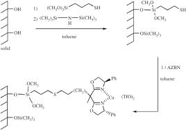 hybrid organic u2013inorganic structured materials as single site