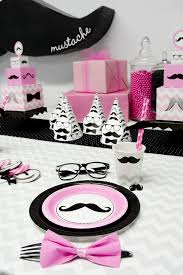 black tie party favors pink mustache birthday express