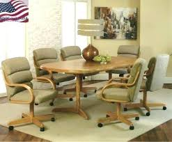 dinette table and chairs with casters awesome caster dining room chairs caster dining chairs dining room