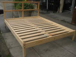 King Platform Bed Frame Plans by Bed Frames Diy King Platform Bed Build A King Size Bed Frame Diy
