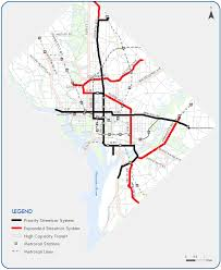 washington dc trolley map expanded streetcar system 37 dc streetcar