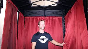 photo booth tent setting up the photo booth curtains