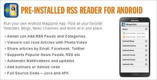 rss reader android pre installed rss reader for android by wpnova codecanyon
