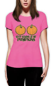 stop staring at my pumpkins women t shirt funny halloween top
