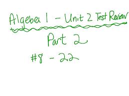 showme algebra unit 8 test answers