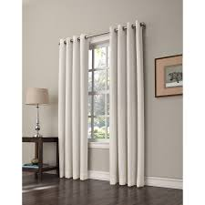 Single Window Curtain by Shop Allen Roth Romanby 84 In Ivory Polyester Grommet Room