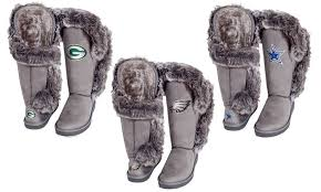 groupon s boots nfl nfc winners s knee high boots groupon