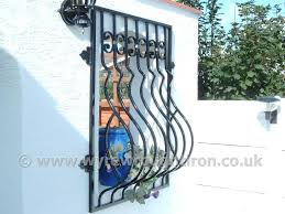 simple wrought iron window grill design india gmm home interior