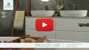 palazzo bathroom vanity large double basin stone top 1500