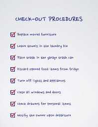 Home Rental Inspection Checklist by When Guests Leave Vacation Rental Checkout Procedures Vacation