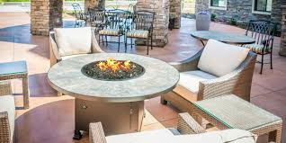 lowes outdoor side table exterior inspiring patio decor ideas with costco fire pit tabitha