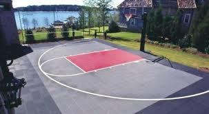 Backyard Basketball Half Court Backyard Basketball Court Backyard Basketball Court Designs