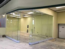 Office Room Divider Glass Walls Aluminum Frameless Dividers Design Fabrication