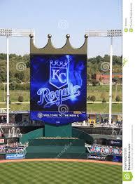 Kauffman Stadium Map Kauffman Stadium Scoreboard Kansas City Royals Editorial Photo