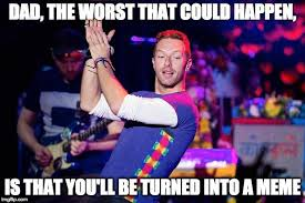 Chris Martin Meme - apple martin said to her dad sidelined chris martin know