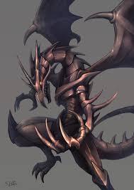red eyes black dragon fanart zerochan anime image board