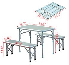 Folding Table And Bench Set Innovative Large Folding Picnic Table 21 Wooden Picnic Tables
