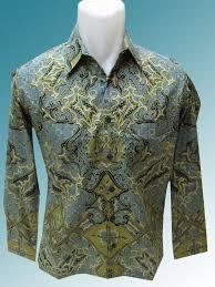 Baju Batik Batik baju batik batik katun motif pola tetumbuhan rumput laut green blue