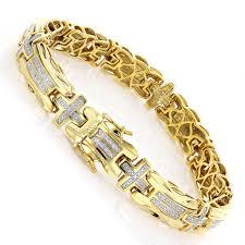 cross bracelet silver images Mens diamond cross bracelet 0 30ct yellow gold plated silver jpg