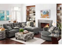 factory outlet home furniture american signature furniture the cordelle sectional collection gray