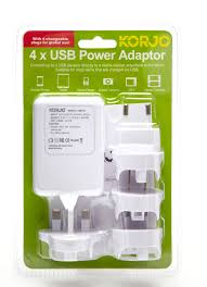 Wyoming travel adaptor images Travel gadget review 4 port adaptor to charge usb appliances jpg
