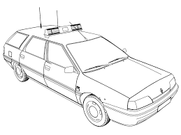 police car coloring pages renault gendarmerie police page