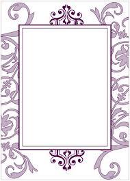 Blank Invitations Purple Flourish Party Invitation Wiregrass Weddings