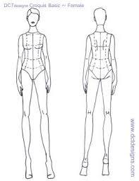 blank fashion model templates fashion models